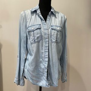 I-N-C Light Blue Jean Button Down